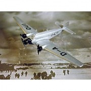 Lufthansa JUNKERS JU52- Special Limited Modell Edition 1:250 Scale Die-cast Plane Made in Germany by Schabak