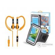 Suport telefon și căști intraauriculare TREVI JR 660, portocaliu