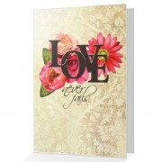 Love Never Fails - 1 Corinthians 13:8 - (Biblical Greeting Card)