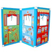 Fun2Give Zig Zag Puppet Theatre with 4 Hand Puppets