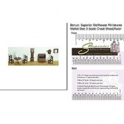 Dollhouse 1/4 in. 9 pc Living Room Set
