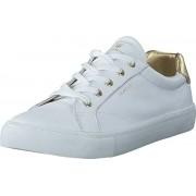 Gant 14531632 Alice Sneaker G292 Bright Wht.+Gold, Skor, Sneakers & Sportskor, Låga sneakers, Vit, Dam, 36