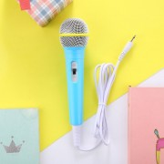 Bleu - Mini Microphone Filaire Micro De Star Karaoké Jouet De Musique Pour Enfant