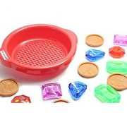 Digging (and Diving) for Pirate Coins and Jewels - Buried Treasure Themed Sand Toy - Pool Dive Toy Beach Toy Sandbox Toy Sensory Bin