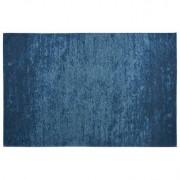 Alfombra azul acrílico-algodón 155x230 STONE - Miliboo