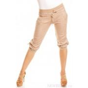 Letní dámské lněné kraťasové kalhoty Puro Lino béžové