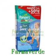 Scutece Pampers Giant Pack Active Baby 6+ pentru copii 54 buc