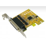 Sunix SER6456AL PCIE 4-Port Serial RS-232 Card - Low Profile