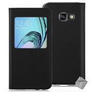 Housse Etui Coque Portefeuille S-View Pour Samsung Galaxy A3 (2017) + Verre Trempe - Noir
