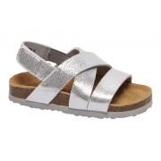 Zilveren sandaal glitter