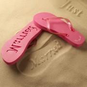 Just Married Flip Flops - Infradito per novelli sposi ROSA