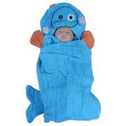 Полотенце с капюшоном PANDA-BOO Зверята Дельфин