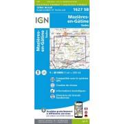 Wandelkaart - Topografische kaart 1627SB Mazieres-en-Gatine, Vasles   IGN