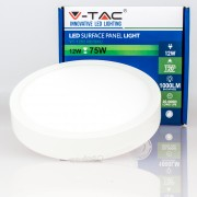 Painel LED 12w»75W Luz Natural 1.000Lm SLIM SURFACE Redondo