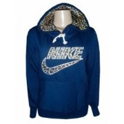 Blusa Moletom Nike Feminina Azul Marinho Oncinha