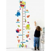 rosegal Cartoon Cat Fishing Height Animal Wall Sticker