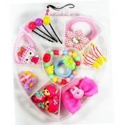 Gift Box for Baby Girl Rakhi Gift Box Hair Pin Bracelet Ring Flower Barbie Princess Frozen