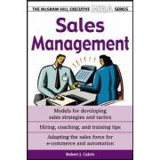 Sales Management by Robert J. Calvin