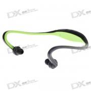 USB recargable de moda deportiva reproductor de MP3 con ranura TF (verde)