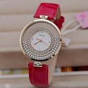 Mulheres Relógio de Moda Quartz PU Banda Brilhante Preta / Branco / Marrom / Rosa marca-