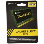 Corsair CMSO2GX3M1A1333C9 Value Select Modulo di Memoria da 2 GB, DDR3, 1333 MHz, CL9, SODIMM, Nero