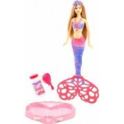 Set Papusa Si Accesorii Mattel Barbie Sirena Cu Baloane De Sapun
