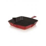 Staub Vierkante Amerikaanse grill 26 cm - kersenrood