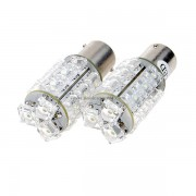 Bombillas blancas del vehiculo de 18 LED (coche 12V / Single-Pin)