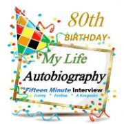 80th Birthday Decorations: My 80th Birthday Autobiography, Party Favor for Guest of Honor, 80th Birthday Gifts for Her, for Him in All Department
