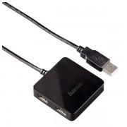 Hub USB, 4 porturi, negru, HAMA