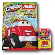 Tonka Chuck and Friends Jumbo Coloring and Activity Book with Cra-Z-Art Crayons