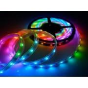 Beltéri led szalag, RGB, öntapadós, 60Led/m, 12 V DC, 14.4W/m IP20 Adeleq LUM30-3412901 Lumen - 5 m