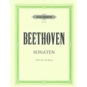 EDITION PETERS Beethoven: 5 Sonatas Op. 5/1,2 op 69, op.102/1,2 (Cello & Piano)