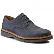 Обувки CLARKS - Newkirk Plain 261105647 Blue Nubuck