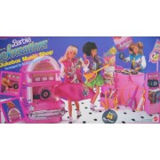Barbie and The Sensations JUKEBOX MUSIC SHOP Playset w 35+ Pieces - Records Really Spin! (1987 Matte