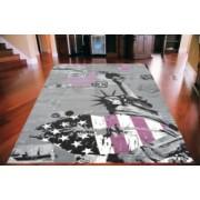 Koberec New York American Kiss grey violet city Rozměr koberce 160x225cm