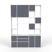 Wohnwand Weiß, MDF, 192 x 271 x 35