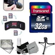 Transcend 32GB High Speed Memory Card KIT for SONY Cyber-Shot DSC-RX100 IV RX10 II HX90V XW500 QX30 RX100 III H400 H300 HX400V QX10 QX100 RX1R RX10 RX100 II XH50V XH300 NEX5T NEW3N H200 RX1 NEX6 NEX5R RX