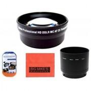 72mm 2X Telephoto Lens for Nikon Coolpix P530 Digital Camera + Tube Adapter