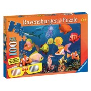 Fascinating Underwater World 100 Piece Cromadepth Puzzle With 3D Glasses