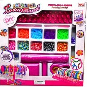 Emob Colorful Loomband With Loom Stand Large Pack