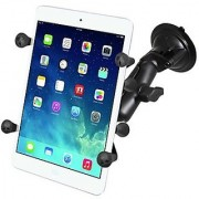 RAM Mounts (RAM-B-166-UN8) Twist Lock Suction Cup Mount with Universal X-Grip Ii Holder for 7 Tablets Including the Ipad Mini 1-3