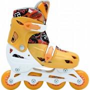 Patins In-Line Roller Kids Ajustável Amarelo - Tamanho M (32 a 35) - Bel Sports 367800