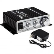 Lepy LP-2024A+ Hi-Fi Audio Amplifier Stereo Power Amplifier Car Amplifier with Power Supply, 3A Power