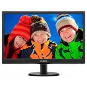 Philips 18.5 Slim LED 1366x768 HD 16:9 5ms 10 000 000:1 VGA, VESA, Piano black