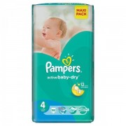 Scutece Active Baby 4 Value Pack, 58 buc, Pampers