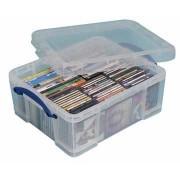 Really Useful Boxes Boîtier De Rangement Pr Cd/Dvd Pour 93 Cd Ou 44 Dvd, Transparent, Ft Extérieur 480 X 1 Unité(S)