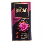 Ciocolata Migdale si Trandafiri Raw Bio 27gr Rocao
