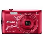 Nikon Coolpix A300 lineart vörös digitális fényképezőgép