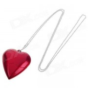 AX-520 Heart Shaped USB 2.0 Flash Disk Necklace - Red (16GB)